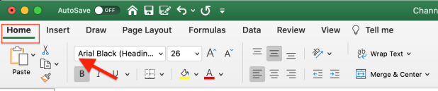 How to Lock Cells in Excel step 1