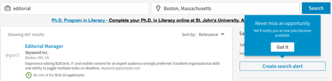 linkedin saved searches and search alerts with recruiter