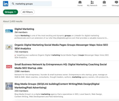 ow to Find Groups on LinkedIn step 3