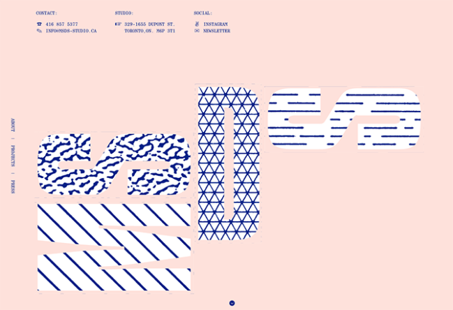 example of the website design trend geometric shapes