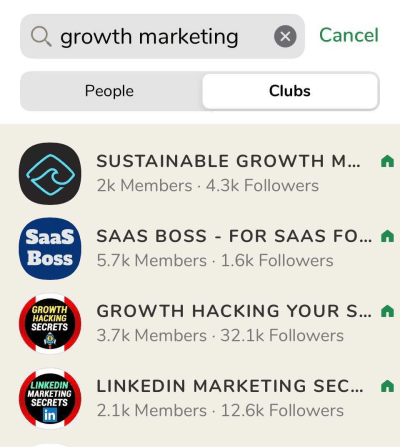 Growth Marketing Clubs