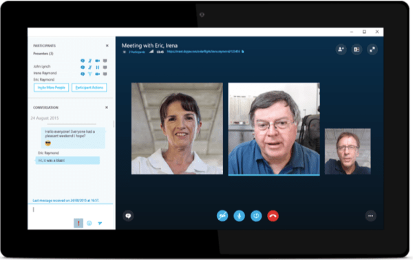 skype video chat software demo