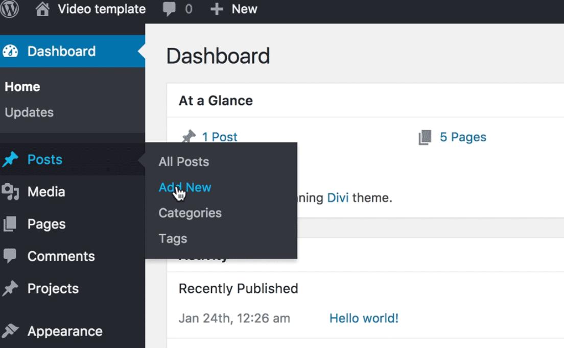 add post to WordPress website