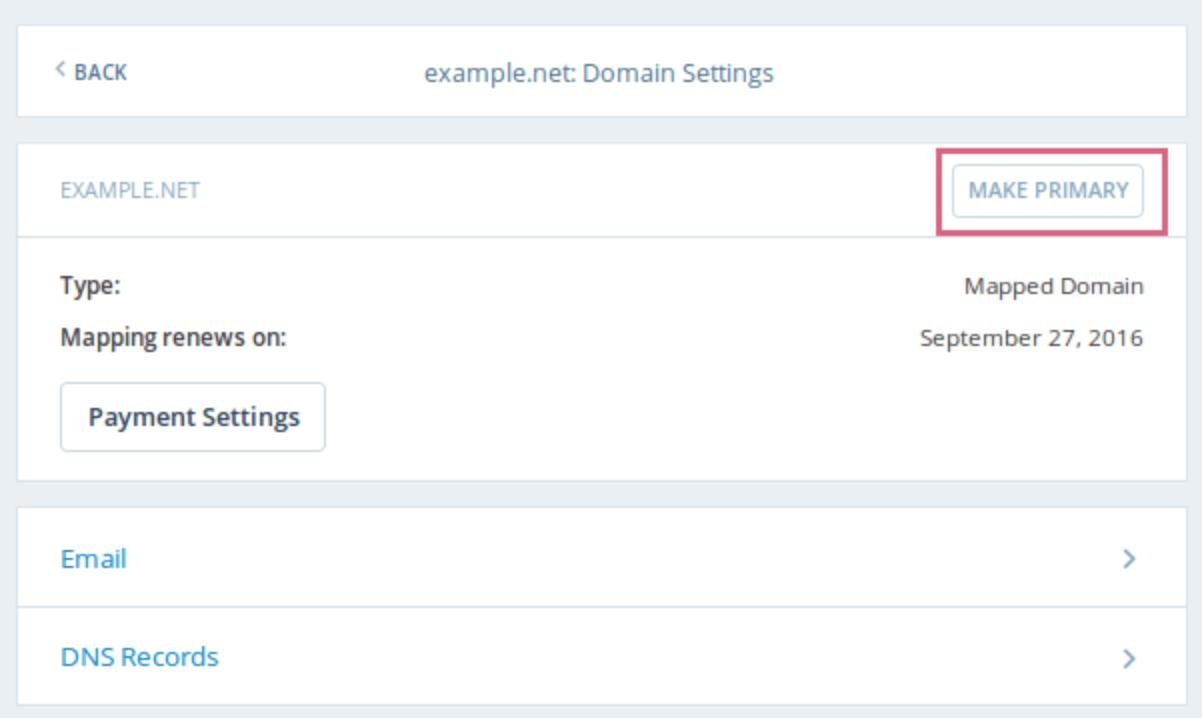 domain settings for WordPress website