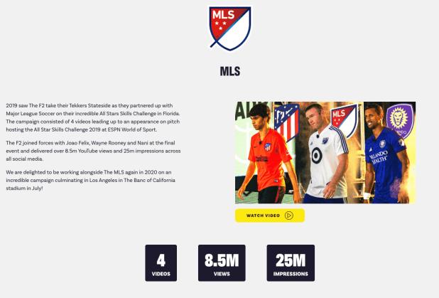 F2's media kit homepage