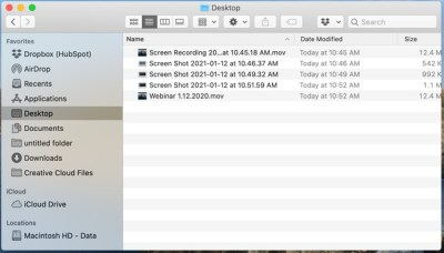 How to download a webinar recording quick time player step three save recording to the desktop folder