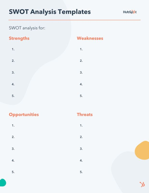 free editable SWOT Analysis pdf template