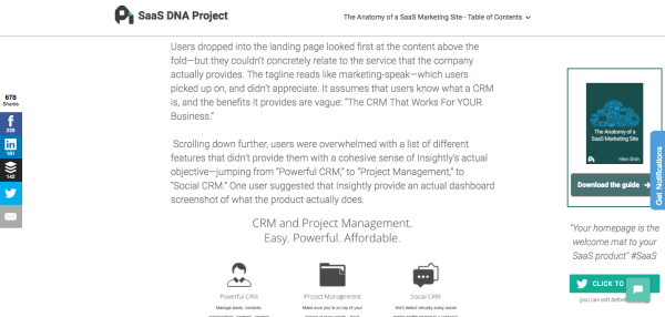 CTA on ProfitWell's pillar page