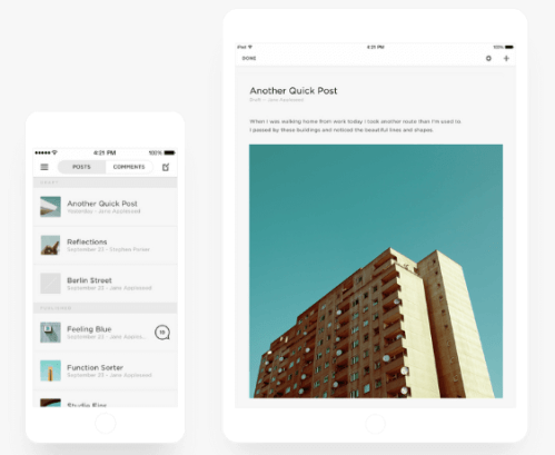 Squarespace Blogging Platform