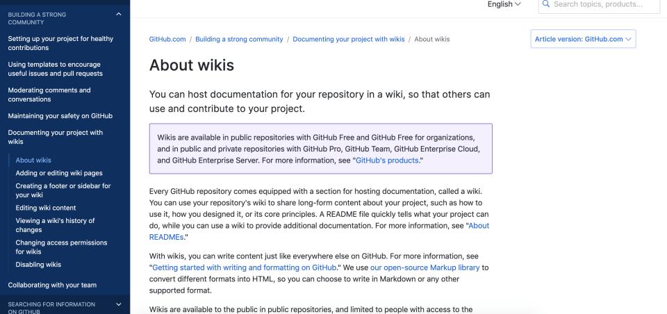 github wiki remote work tool