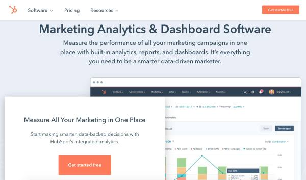 Business Intelligence & Data Reporting Tools example hubspot marketing analytics and dashboard software