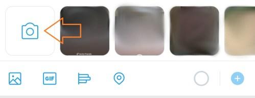 Screenshot of Twitter Camera Icon