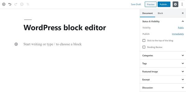 free web design tool wordpress and block editor