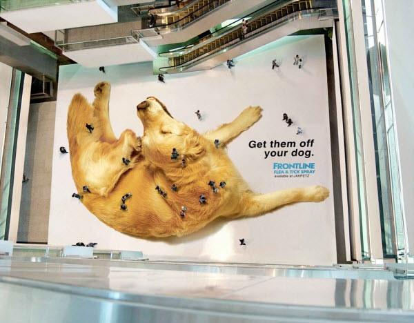 Guerilla Marketing Example: Frontline's Interactive Floor Ad