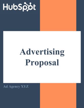 HubSpot's advertising proposal template
