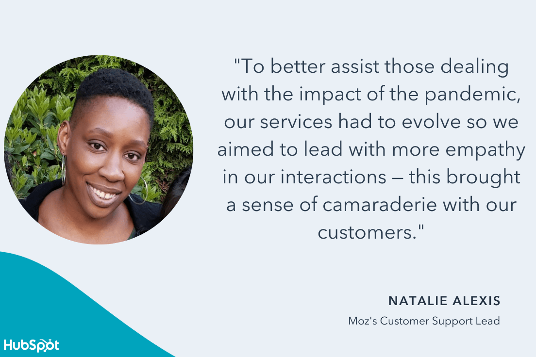 alexis quote on how covid impacted customer support