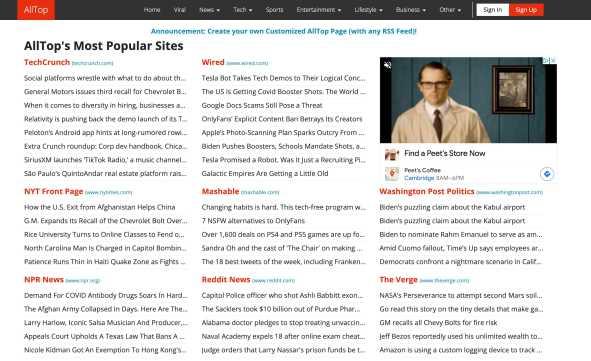 alltop news content aggregation site