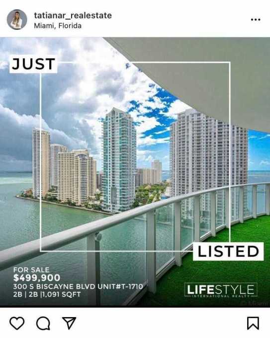 realtor social media example instagram post announcing new listing