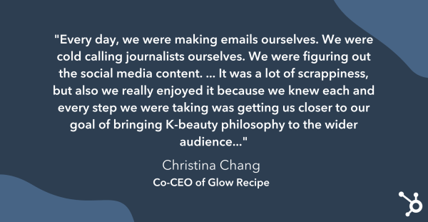 christina chang discusses the early days of Glow Recipe as a startup