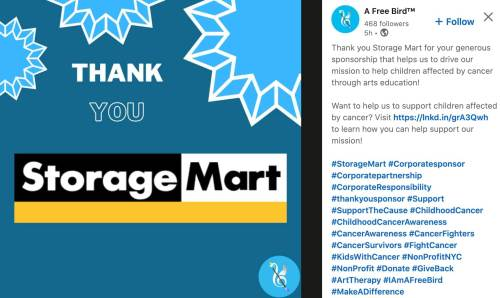 Storage Mart's corporate sponsorship example