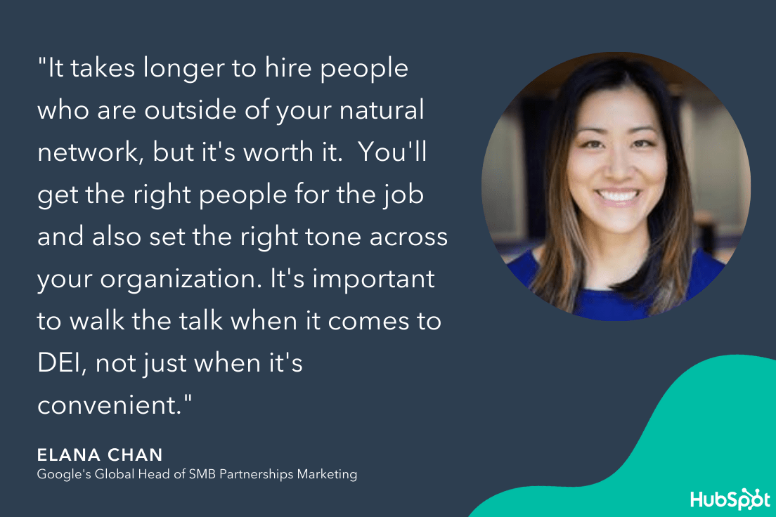 elana chans quote on building strong marketing teams