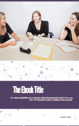 Cover of a free ebook template offered by HubSpot