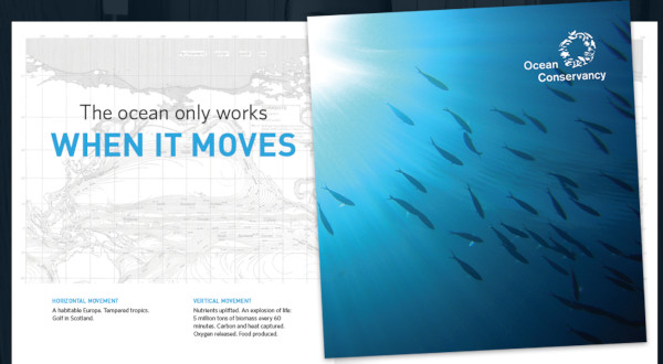 heather shaw minimalist ad with a large photo of the ocean and a large tagline