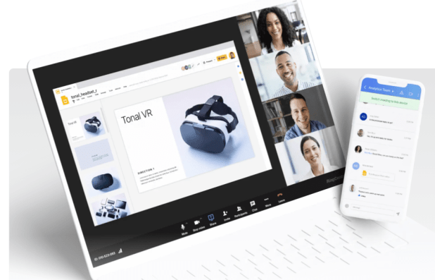 RingCentral's video dashboard on desktop and phone