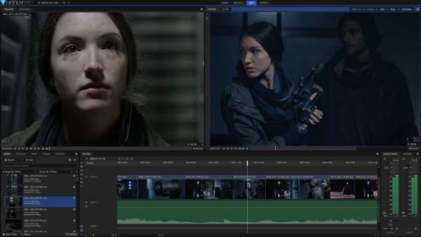 HitFilm video editing software in timeline view
