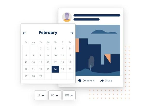 hootsuite social publishing calendar features