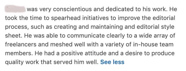 Recommandations de l'administrateur pour LinkedIn