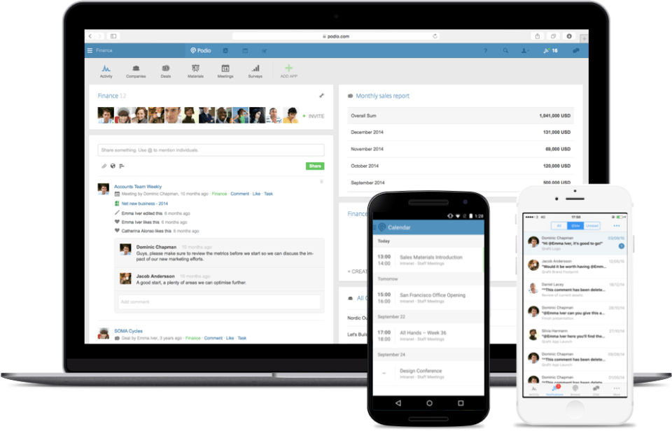Podio project management platform for teams