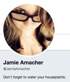 Funny Twitter bio from @JamieAmacher