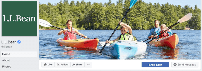 ll-bean-facebook-business-page