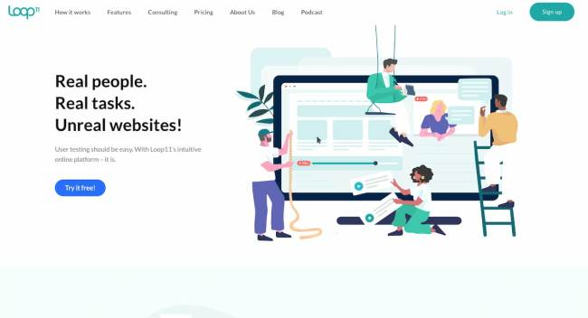 Loop11 usability testing platform for market research
