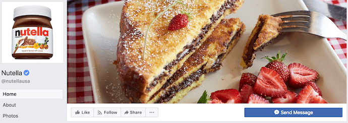 nutella-facebook-business-page