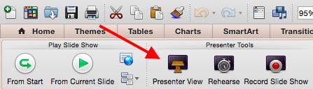 PowerPoint presenter view.