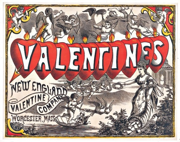 public-domain-images-ester-Cover of a Valentine's Day book published by Howland's company