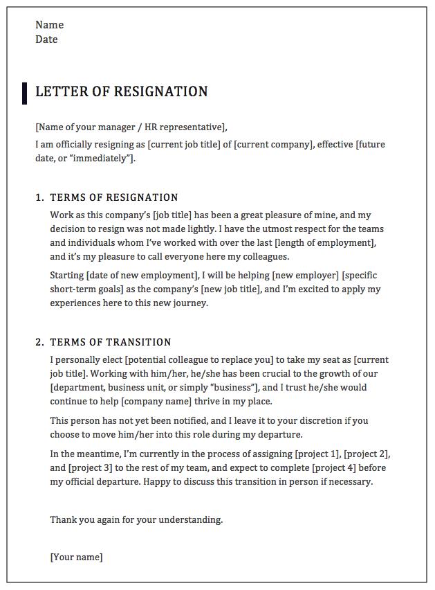 How To Write A Professional Resignation