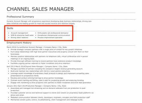example of bulleted list of leadership skills on a resume