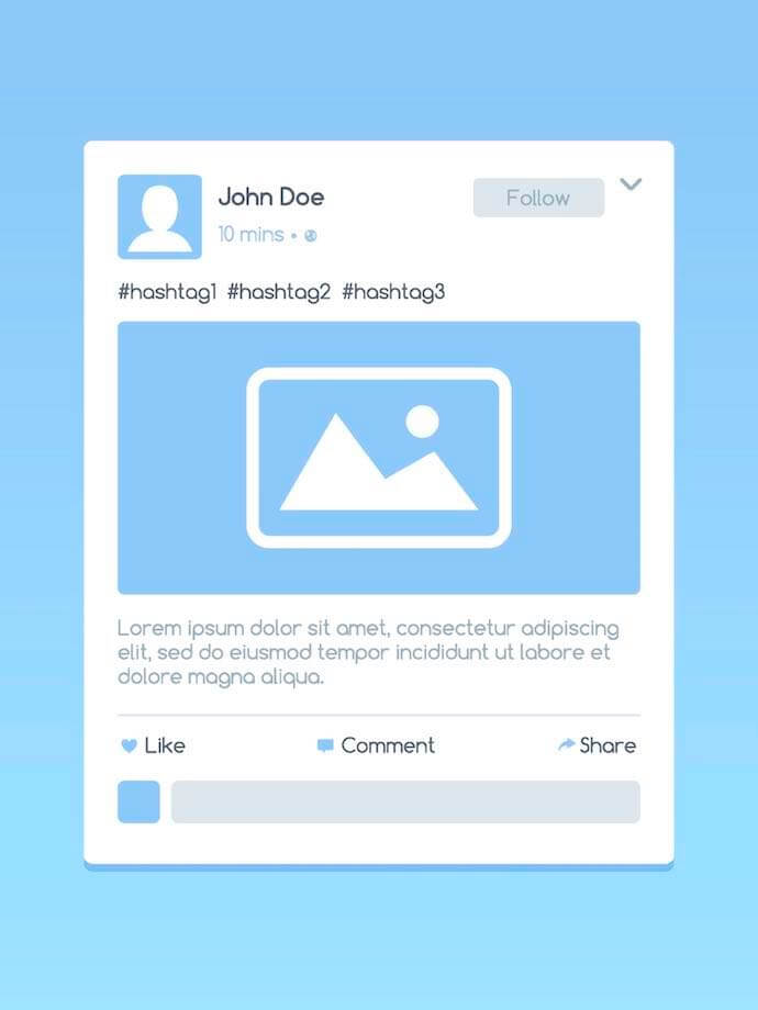 Twitter in-stream image illustration