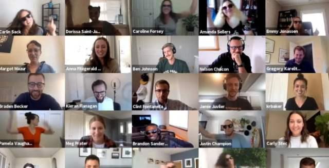 HubSpot's virtual flash mob on Zoom