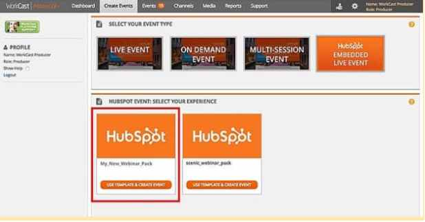 Workcast webinar example