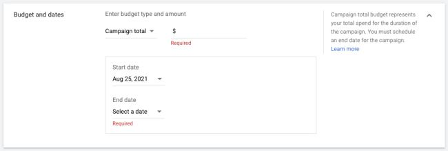 How to advertise on YouTube: Set a budget