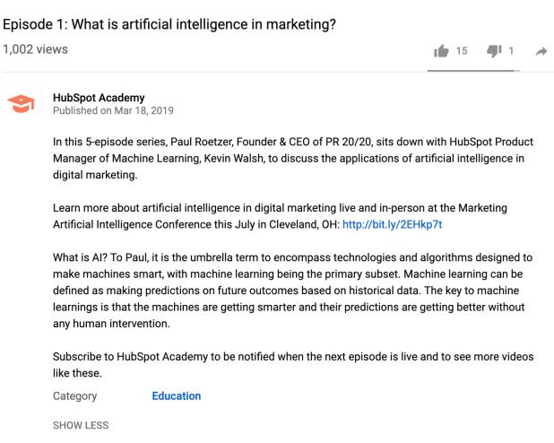 Transcript for a YouTube Video Description