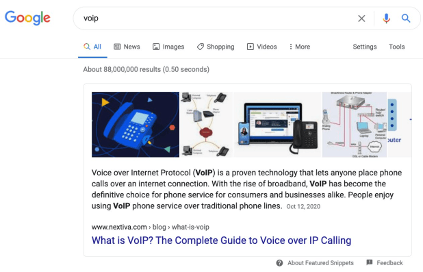 voip search results page