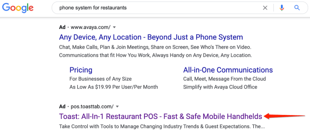 search results for phone systems for restaurants