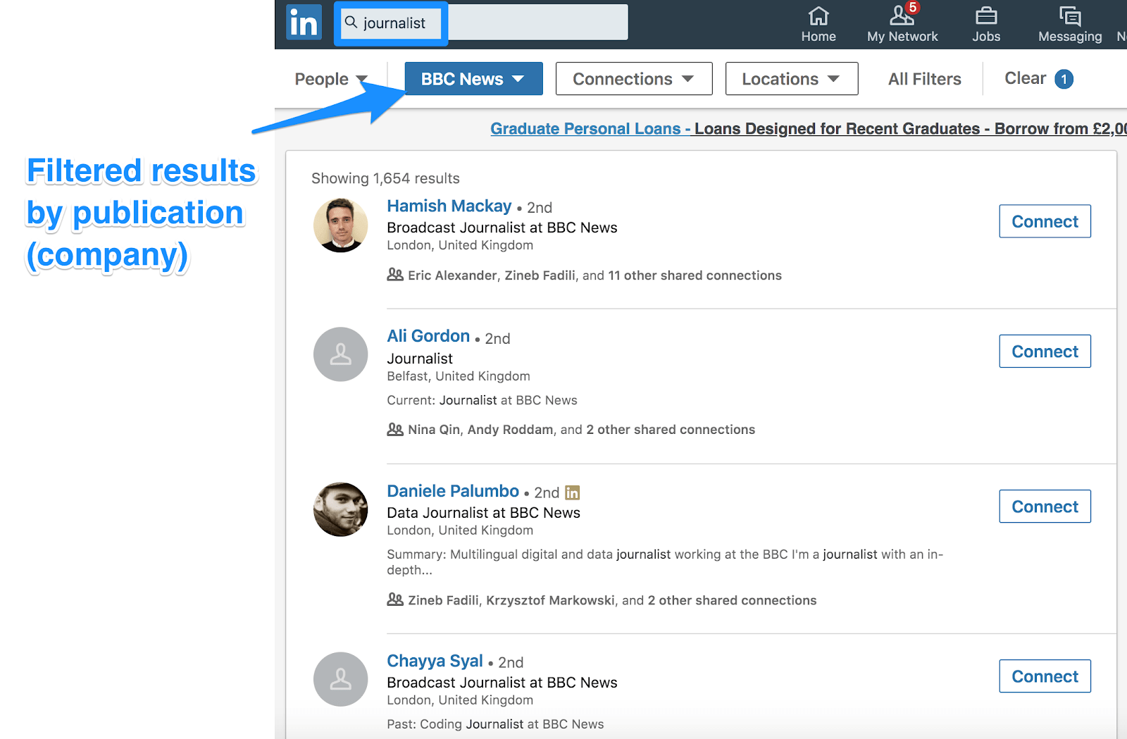 finding journalists for press release on LinkedIn