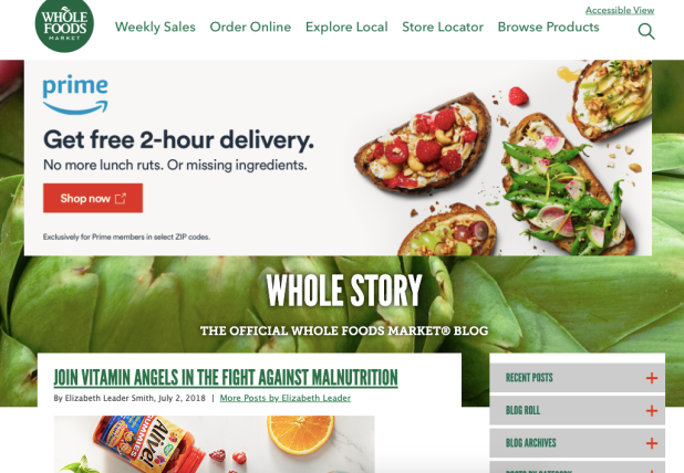 Whole Story is an example of a well-named blog