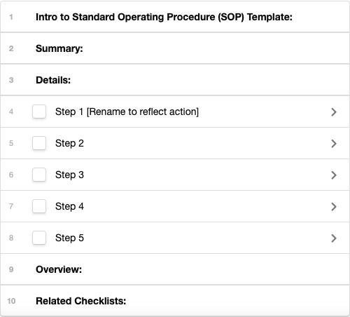 sop checklist demo